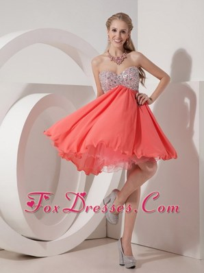 Sweetheart Organza and Chiffon Beading Prom Homecoming Dress