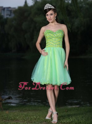 Sweetheart Beading Colorful 2013 Prom Homecoming Dress