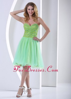 Beading Sweetheart Knee-length Prom Cocktail Dress 2013