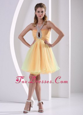 Beading Straps Ruching Prom Homecoming Dress Colorful Organza