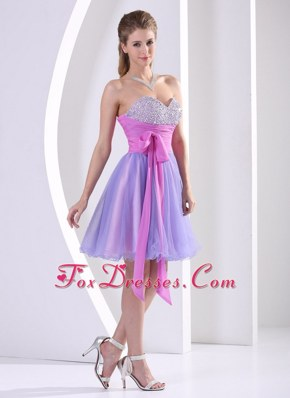 Beading Sweetheart Prom Homecoming Dress Sash Knee-length