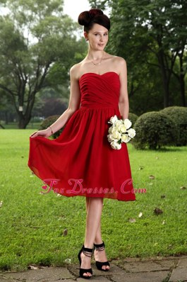 Empire Sweetheart Knee-length Ruching Short Prom Dress