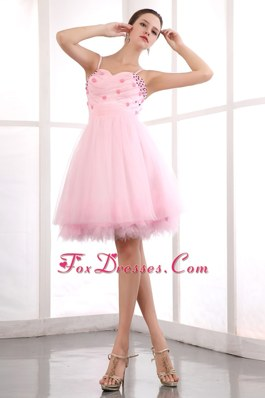 Beading Cute Pink Straps Party Dress for Homecoming