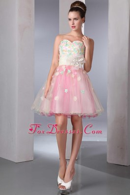 Pretty Appliques Colorful Sweetheart Party Dress for Homecoming