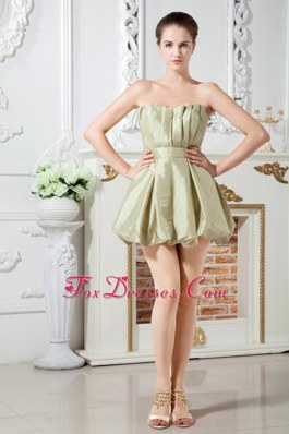 Ruching Formal Sweetheart Short Olive Green Homecoming Dresses