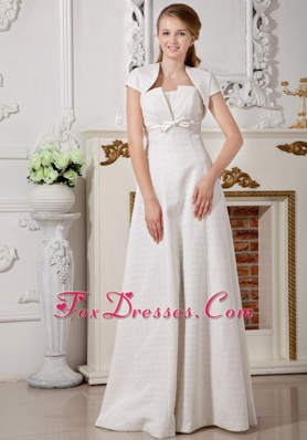 Affordable Belt Wedding Dress Empire Strapless