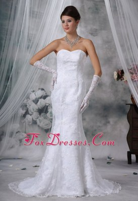 Lace Mermaid Court Exclusive Wedding Dress Sweetheart