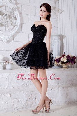 Mini-length Beading Prom Little Black Dresses Sweetheart
