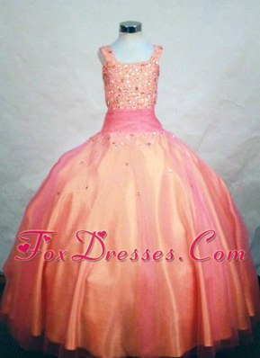 Beading Ball Gown Straps Little Girl Pageant Dresses in Colorful