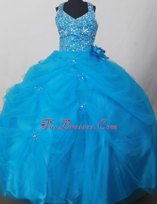 Sweet Blue Ball Gown Little Girl Pageant Dress