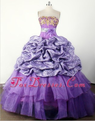 Luxurious Zebra Pageant Dresses with Hand Flower and Appliques