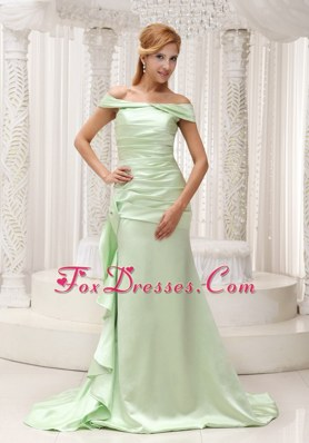 Off The Shoulder Yellow Green Evening Dresses For 2013