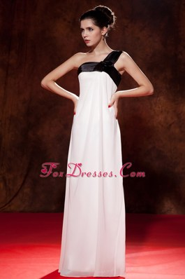 One Shoulder PromMaxi Dresses Empire Floor-length Chiffon