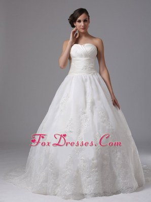 Sweetheart Ball Gown Ruched Layers New Arrival Wedding Dress