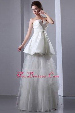 Taffeta and Tulle Wedding Dress Ruching Layered New Arrival