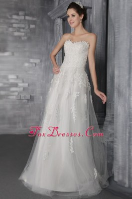Tulle Layers Brush Train Lace Wedding Dress 2013 New Style