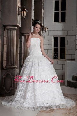Ball Gown Court Train Beading Wedding Dress Bridal Gown