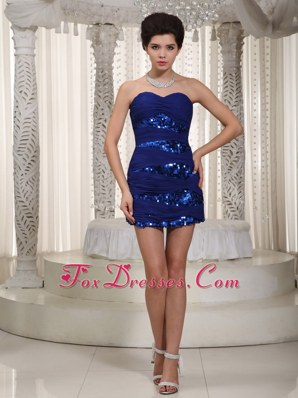 Royal Column NightclubCocktail Dress Mini-length Sequined