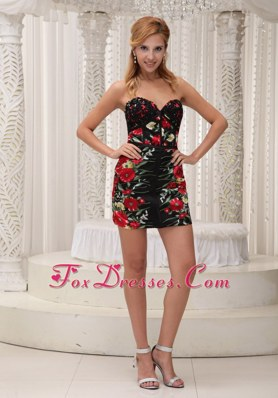 Sexy Printing 2013 NightclubGraduation Dress Sequins Sweetheart