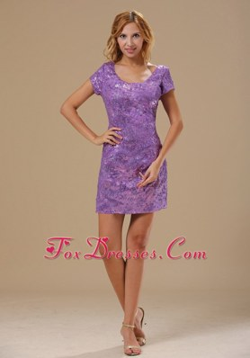 2013 NightclubHomecoming Dress Paillette Over Skirt Scoop Sleeves