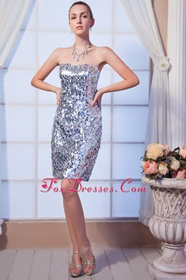 Strapless Mini-length Sequin Beading Graduation Dress