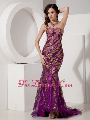 Fashion Mermaid Appliques Strapless Prom Evening Dress