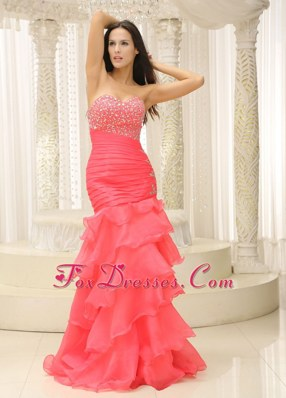 Mermaid 2013 Prom Pageant Dress Sweetheart Beading Ruffles