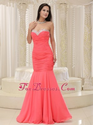 Mermaid Sweetheart Prom Pageant Dress Beading For Party