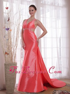 Waltermelon Column Straps Prom Evening Dress 2013