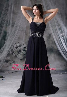 Beaded Decorate Straps Brush Train Pageant Evening Dress For 2013