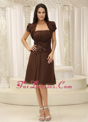 Ruched Bodice Short Mother of The Bride Dresses with Jacket