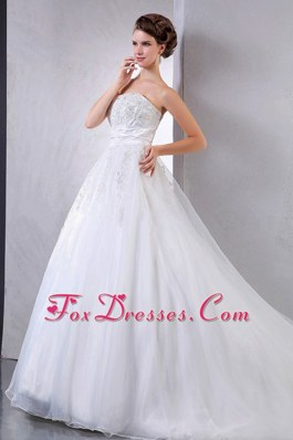 Pretty Layered Ball Gown Chapel Train Wedding Dress