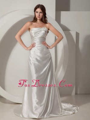 Taffeta Ruched Wedding Bridal Dresses 2013 Popular Train