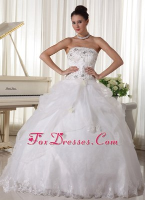 Beaded Pick-up Popular Ball Gown Bridal Gown Organza