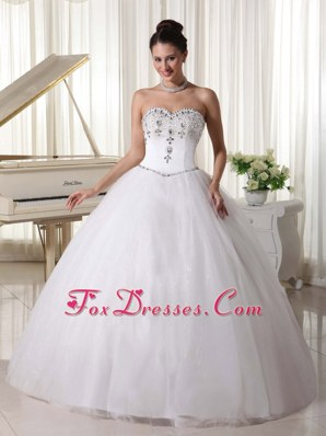 Organza Popular Ball Gown Rhinestones Wedding Dress