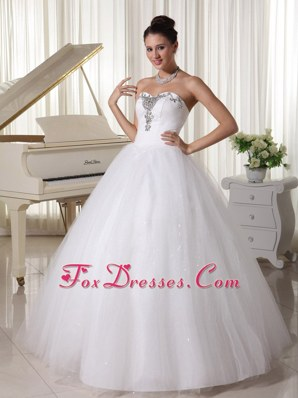 A-line Popular Beaded Wedding Dress For Customize