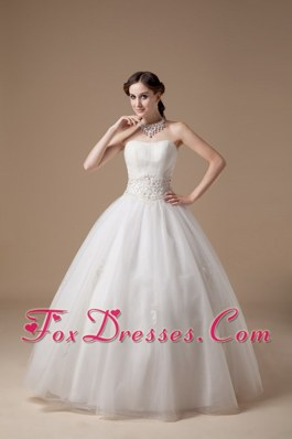 Popular Ball Gown Appliques Wedding Dress Strapless
