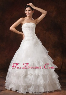 Ruffles Layered Lace For 2013 Popular Wedding Dress