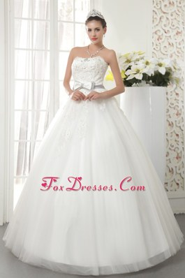 Popular Strapless Beading Wedding Dress A-line