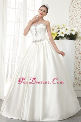 A-line Beading Popular Wedding Dress Sweetheart