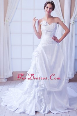Sweetheart Popular Princess Wedding Dress Appliques