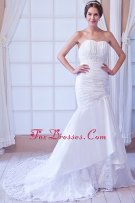 Popular Court Appliques Wedding Dress Mermaid