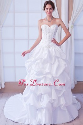 Sweetheart Popular Beading Wedding Dress Taffeta