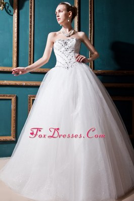 Sweetheart Popular Beading Wedding Dress Ball Gown