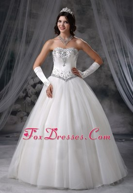 Popular Beaded Ball Gown Wedding Dress For 2013 Tulle