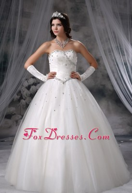 Beaded Popular Ball Gown Tulle Wedding Dress 2013
