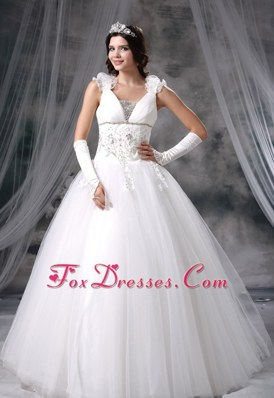 Appliques Beading Flowers 2013 Popular Wedding Dress