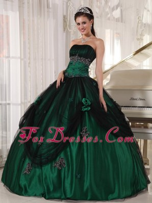 Green Tulle and Taffeta Beading Quinceanera Dress