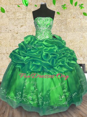 Top Selling Sleeveless Lace Up Floor Length Beading and Embroidery Sweet 16 Quinceanera Dress