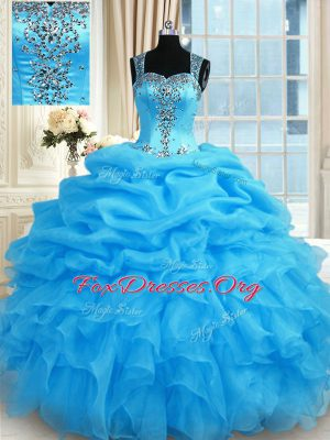Clearance Sleeveless Beading Zipper 15th Birthday Dress
